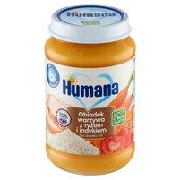 HUMANA 100% Organic Obiadek warzywa z ryżem i indykiem po 6. m-cu
