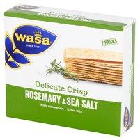 WASA Ekstracienkie pszenne pieczywo chrupkie z rozmarynem i solą morską