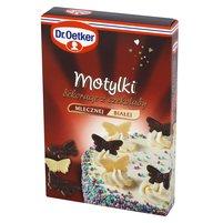 DR. OETKER Motylki Dekoracje z czekolady mlecznej i białej (12 sztuk)