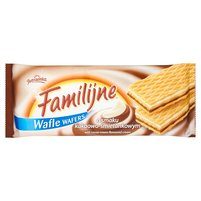 FAMILIJNE Wafle o smaku kakaowo-śmietankowym