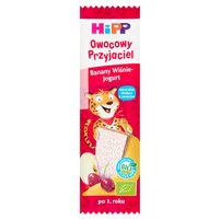 HiPP BIO Owocowy Przyjaciel Banany-Wiśnie-Jogurt Owocowy batonik dla małych dzieci po 1. roku