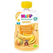 HiPP BIO Sport Mus owocowy po 1. roku banany-gruszki-pomarańcze-mango z ryżem