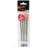 ARTSEZON Długopisy plastikowe z zatyczką przezroczyste mix kolorów