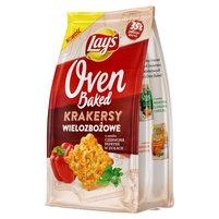LAY'S Oven Baked Krakersy wielozbożowe o smaku czerwona papryka w ziołach