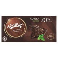 WAWEL Czekolada gorzka z cząstkami miętowymi 70% cocoa