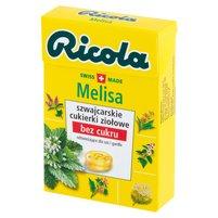 RICOLA Szwajcarskie cukierki ziołowe melisa