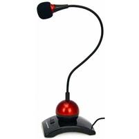 ESPERANZA Mikrofon na podstawce EH130 czerwony