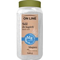 ON LINE Sól do kąpieli z magnezem Algi + biała herbata