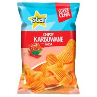 STAR CHIPS Chipsy karbowane o smaku salsy