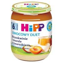 HiPP BIO Owocowy Duet Brzoskwinie i morele z twarożkiem po 6. miesiącu