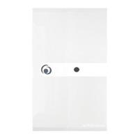 HERLITZ Teczka plastikowa 22,5x13 cm na zatrzask Biała transparentna