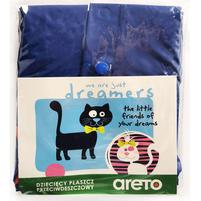 ARETO Płaszcz przeciwdeszczowy dziewczęcy z odblaskami na rękawach niebieski
