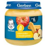 GERBER Jabłuszka z biszkoptem dla niemowląt po 6. m-cu