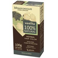 VENITA 100% Natural Ziołowa farba do włosów 3.0 czarna czekolada