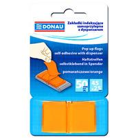 DONAU Zakładki indeksujące 45x25mm Pomarańczowe