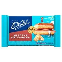 E. WEDEL Cookie Czekolada mleczna z nadzieniem mleczno-orzechowym i herbatnikiem