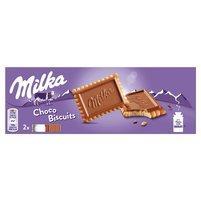 MILKA Choco Biscuit Herbatniki z czekoladą mleczną z mleka alpejskiego