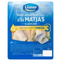 LISNER Śledź atlantycki filety a'la Matjas klasyczne