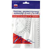 MARTEX Zestaw geometryczny szkolny 3-elementowy