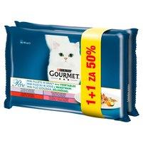 GOURMET Perle Karma dla kotów kolekcja mini filecików w sosie z warzywami  (8 x 48 g)