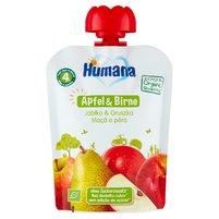 HUMANA 100% Organic Mus jabłko & gruszka po 4. m-cu