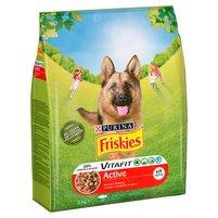 FRISKIES Vitafit Active z wołowiną Karma dla dorosłych psów