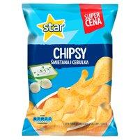 STAR CHIPS Chipsy ziemniaczane o smaku śmietany z cebulą