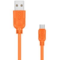 EXC Kabel USB - micro USB Whippy 2m pomarańczowy