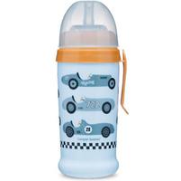 CANPOL BABIES Bidon niekapek Racing (samochody sportowe) 350ml 12m+