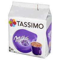 TASSIMO Milka Słodzony napój kakaowy w proszku z odtłuszczonym mlekiem w proszku (8 kaps.)