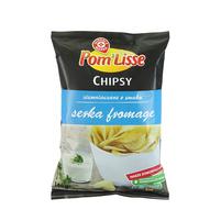 WIODĄCA MARKA Chipsy ziemniaczane o smaku serka fromage