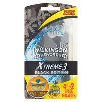 WILKINSON Sword Xtreme3 Black Edition Jednorazowe maszynki do golenia