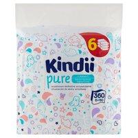 KINDII Pure Chusteczki do skóry wrażliwej (6 x 60 szt.)