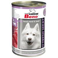 SUPER BENO Karma dla psa z głowizną i wołowiną