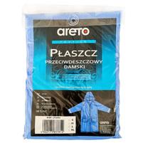 ARETO Płaszcz przeciwdeszczowy damski niebieski