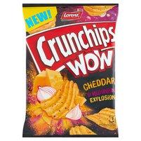CRUNCHIPS Wow Grubo krojone chipsy ziemniaczane o smaku sera cheddar i cebuli