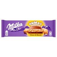 MILKA Mmmax Herbatnik w czekoladzie mlecznej Choco & Biscuit
