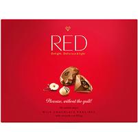 RED Praliny z mlecznej czekolady z nadzieniem orzechowym