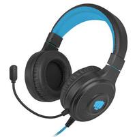 FURY Słuchawki z mikrofonem dla graczy Warhawk RGB czarno-niebieskie