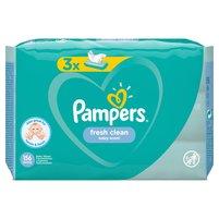 PAMPERS Fresh Clean Chusteczki nawilżane dla niemowląt (3 opak.)