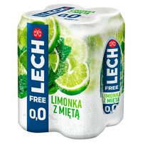LECH Free Piwo bezalkoholowe limonka z miętą (4 x 500 ml)