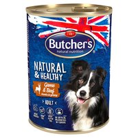 BUTCHER'S Natural & Healthy Karma dla dorosłych psów kawałki w sosie z dziczyzną i wołowiną