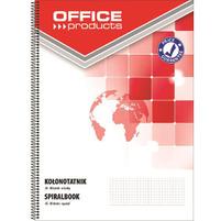OFFICE PRODUCTS Kołonotatnik A5 80 kart. w kratkę boczna spirala