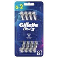 GILLETTE Blue3 Football Jednorazowa maszynka do golenia dla mężczyzn
