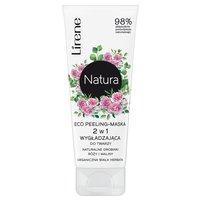 LIRENE Natura Eco peeling-maska do twarzy 2 w 1 wygładzająca organiczna biała herbata