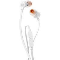 JBL Słuchawki douszne z mikrofonem T110 białe