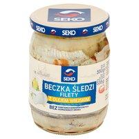 SEKO Beczka śledzi Filety z olejem wiejskim
