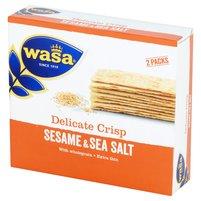 WASA Ekstracienkie pszenne pieczywo chrupkie z sezamem i solą morską