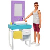 BARBIE Domowe zajęcia Lalka Ken przy goleniu FYK51/FYK53 (3+)