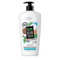 EVELINE I Love Vegan Food Nawilżający balsam do ciała kokos olejek migdałowy